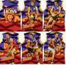 2010 Select AFL Prestige Holofoil Jersey Die Cut Card Team Set (12)-Brisbane