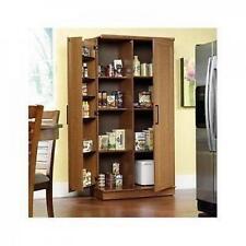 Tall Kitchen Cabinet Storage Food Pantry Wooden Shelf Cupboard Wood Organizer
