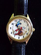 Rare Hard To Find Disney Mikey Mouse Scocerer Appentice Watch Timeworks VGC