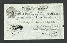More details for peppiatt £50  1934   white fifty   operation bernhard   bank of england  b244