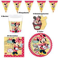 Set Minnie Maus Tisch Deko Party Kinder Geburtstag 1. Minni Micky Mouse Pluto