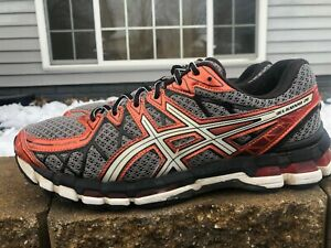 Mens Asics Gel Kayano 20 Anniversary Edition Running Shoes Size 10.5 Gray/Orange