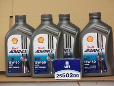 Shell Advance Ultra 4T 15W-50 / UFI Ölfilter Ducati 500 GTL GTV Sport Desmo