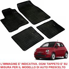 Tappeti Tappetini su Misura Fiat 500 Set Completo in Gomma