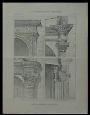 BOURGES, HOTEL LALLEMANT - 1893 - PLANCHE ARCHITECTURE