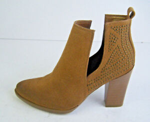BNWT RE:DENIM by David Jones Suede Ankle Studded Heeled Boots RRP: $99.95