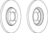 Ferodo DDF023 Front Axle Solid Brake Disc Set Replaces 1437814