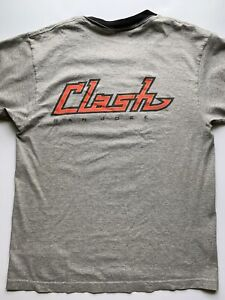 Vtg MLS San Jose Clash Soccer Shirt Nike Sz Small Ringer Tshirt Gray 90s 80s