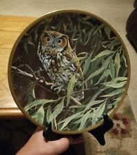 "Hamilton Collection ""Dawn In The Willows"" Noble Owls of America Plate"