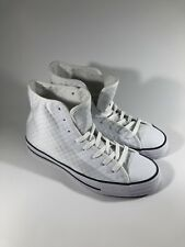 09cd2dddfb91 Converse Chuck Taylor All Star Hi Shoes White Black 154906C US Men Size 8