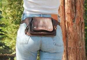 Brown Leather Belt Bag Festival Fanny Pack Boho Hip Bag Women Waist Bag