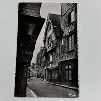 Tours, France - Old Houses, Rue du Change Vintage RPPC Postcard