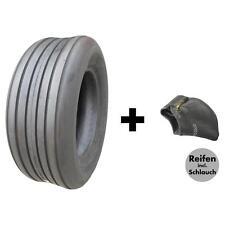 13X5.00-6 4PR BKT Rillenprofil TL Heuwender Reifen + Schlauch, für Heuwender
