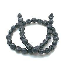 1 filamento sintético Howlite Negra Calavera granos 52 piezas
