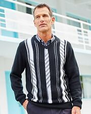 Premier hombre Jacquard Suéter Jumper Knitwear Talla XL 48/50 BNWT RRP £ 23.50 Negro