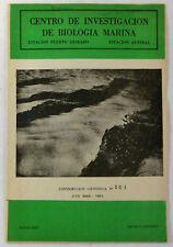 1975 Centro De Investigacion De Biologia Marina Booklet~ Buenos Aires, Agrentina