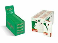 600 Rizla Green Papers & 600 Swan Menthol Extra Slim Filters Tips - Free Del