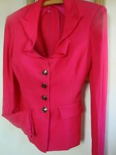 Stunning Cerise Special Occasion Jacket By John Richmond Size 12