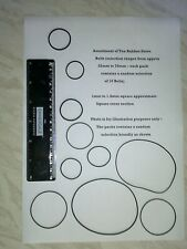 Pack of Ten Assorted Rubber Drive Belts for Cassette, CD ROM, DVD Player etc