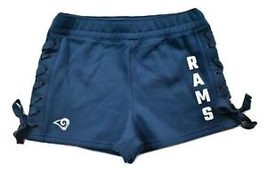 Junk Food Womens NFL Los Angeles Rams Lace-Up Side Shorts New XS-2XL