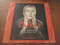 33 tours GIACOMO PUCCINI les heroines de puccini MARIA MENEGHINI CALLAS soprano