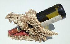 NEW Dragon Bones Skull Wine Bottle Holder Skeleton Medieval Home Decor