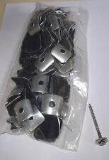 100 Kalotten Aluminium blank 18/76 Sinus Wellplatten 25x25 mit 4,5 x 55 Spengler