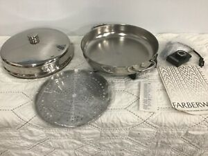 """Farberware Electric 12"""" Skillet and High Dome Cover 344A  New"""