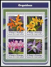 SAO  TOME 2017 ORCHIDS SHEET MINT NH