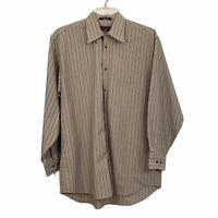 Nordstrom Long Sleeve Dress Shirt Mens Medium Button Down Blue Gray Striped