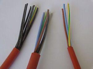 Saunakabel Silikonkabel SIHF 2-7 Adern 0,5 - 4 mm² Silikonleitung