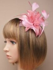 Dusky pink fascinator flower hair comb, weddings, races, prom