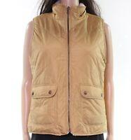 Thread + Supply Women Vest Brown Size Medium M Faux-Fur Lined Reversible $54 969
