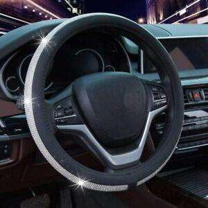 Universal Bling Shiny Rhinestone Diamond Car Steering Wheel Cover -For woman