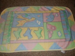 LN 30x45 Riegel Jungle jive Zoo Safari Animals Minky Plush Baby Crib blanket