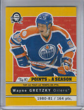 17/18 OPC Edmonton Oilers Wayne Gretzky Top 10 Points (164 Points) card #T-10