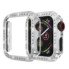 For apple watch 38/42mm 40/44mm Bling Diamond Shell Case PC Cover Frame Bumper