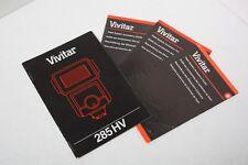 Vivitar 285 HV Electronic Flash 285HV InstructionManual+English Only+Original