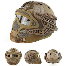 Tactical Protective Goggles G4 System Full Face Mask Helmet Molle Paintball NO