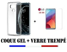 PACK LG G6/ G6 Dual  HOUSSE COQUE SILICONE + FILM PROTECTION VITRE VERRE TREMPE