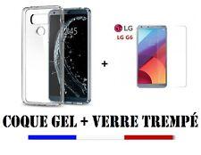 POUR LG G6/ G6 Dual  HOUSSE COQUE SILICONE + FILM PROTECTION VITRE VERRE TREMPE