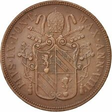 [#501569] ITALIAN STATES, PAPAL STATES, Pius IX, 5 Baiocchi, 1853-VIII, Rome