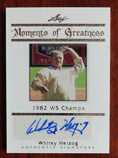 Whitey Herzog 2011 Leaf Moments of Greatness Auto St. Louis Cardinals #8/10 HOF