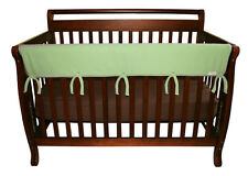 "CribWrap Convertible Crib Rail Cover-51"" Sage Fleece By Trend Lab 109079 New"