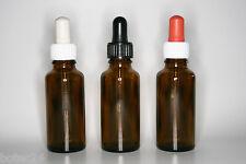 10 St. Pipettenflaschen 30 ml Braunglas DIN18 Pipettensauger in drei Farben