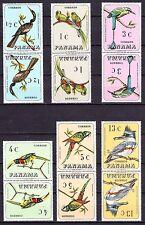 PANAMA 1967 - BIRDS SC# 478 - 478E TETE BECHE MINT NEVER HINGED SET