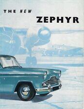 Ford Zephyr Mk2 1956 USA Market Sales Brochure Saloon Convertible