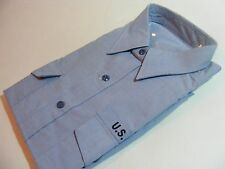 US Military Navy Men's Utility Work Shirt Long Sleeve Blue Sz XL-32Sleeve NEW