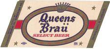 Queens Brau Select Beer Label