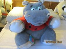 "HUGE GIANT HIPPO STUFF ANIMAL GRAY COLLECTIBLE  17"" H x 17"" x 15"" MADE BELARUS"